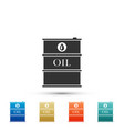 barrel oil icon isolated on white background vector image
