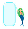 beautiful mermaid with speech bubble vector image