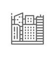 big city megapolis landscape line icon vector image vector image