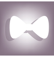 Black bow tie icon vector image vector image