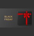 black friday sale banner poster gold glitter vector image