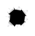 black torn hole vector image vector image