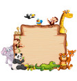 border template with cute animals vector image vector image