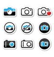 Camera analogue and digital icons set vector image
