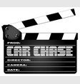 car chase clapperboard vector image vector image