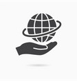 care planet icon save earth logo template vector image vector image