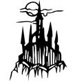 castle - halloween set vector image vector image