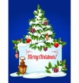 Christmas tree winter holidays greeting card vector image vector image