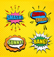 comic pages collection vector image vector image