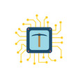 cpu mining flat icon vector image
