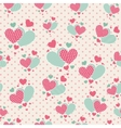 cute carrtoon hearts for scrapbook paper vector image vector image