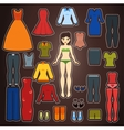 Cute dress up paper doll Body template vector image