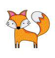 cute fox wild animal of the forest vector image