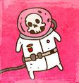 Dead Astronaut Cartoon vector image