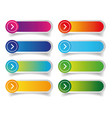empty web colorful button set vector image vector image