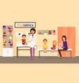 examination by pediatrician vector image vector image