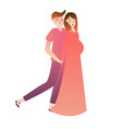 expecting parents standing side by vector image vector image