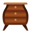 fashion nightstand icon cartoon style vector image vector image