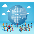 Global social media network in Europe and Africa vector image vector image