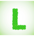 grass letter L vector image