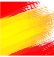 grunge background in colors of spanish flag vector image vector image