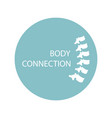 health care abstract growing spine bone - body vector image vector image