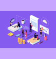 isometric concept investor or business vector image vector image