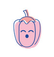 kawaii cute funny pepper vegetable vector image vector image