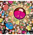 kokeshi dolls vector image vector image