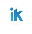 letters i k logo design template elements vector image