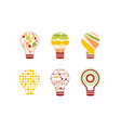 light bulbs abstract design with geometric vector image vector image