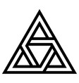 logo tattoo triangle with interlocking sides vector image