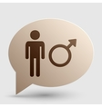Male sign Brown gradient icon on vector image vector image