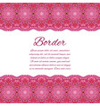 mandala border card or invitation red wedding vector image vector image