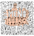 menopause doodles image vector image