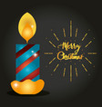 merry christmas candle porter decoration vector image