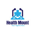 mount health logo designs vector image vector image