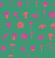 mushroom seamless pattern design vector image vector image