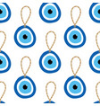 nazar amulet blue evil eye talisman pattern vector image vector image