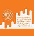 organic handwritten font juice vector image vector image