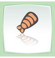 outline sushi shrimp japan food icon Modern logo vector image vector image