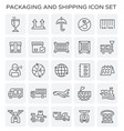 packaging shipping icon vector image vector image
