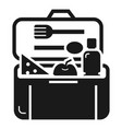 plastic lunchbox icon simple style vector image vector image
