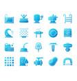 pool equipment simple gradient icons set vector image