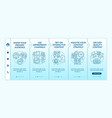 popular content techniques onboarding template vector image