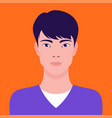 portrait a young asian man flat vector image vector image