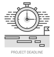 Project deadline line infographic vector image