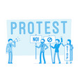 protesting people at strike vector image