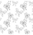 ribbon bows black and white seamless pattern vector image