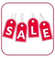 sale offer red vector image vector image